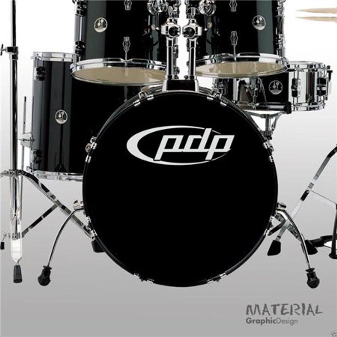 Drum Workshop Sticker/pdp Bass Drum - White
