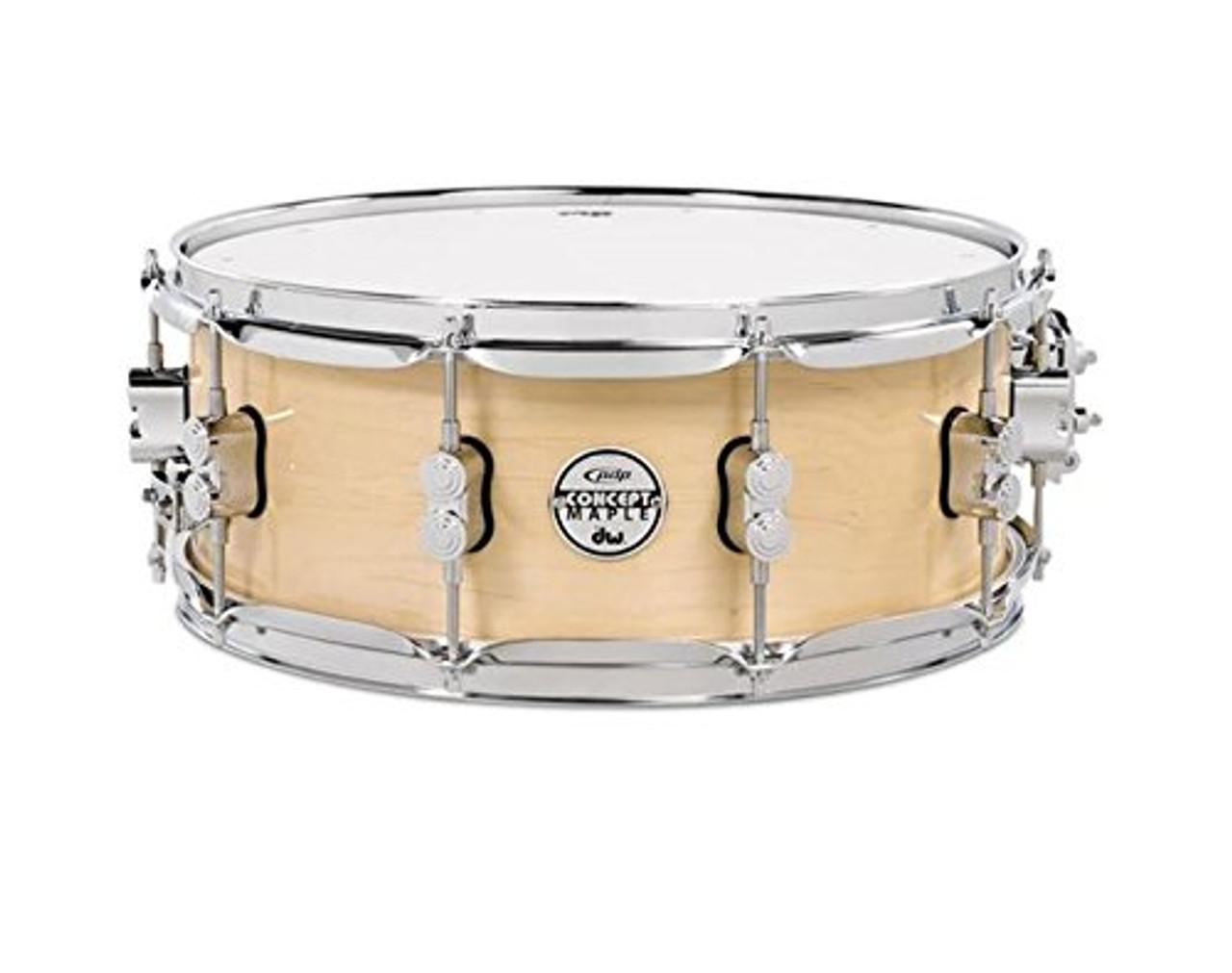 Drum Workshop Natural Lacquer - Chrome Hw 5.5x14
