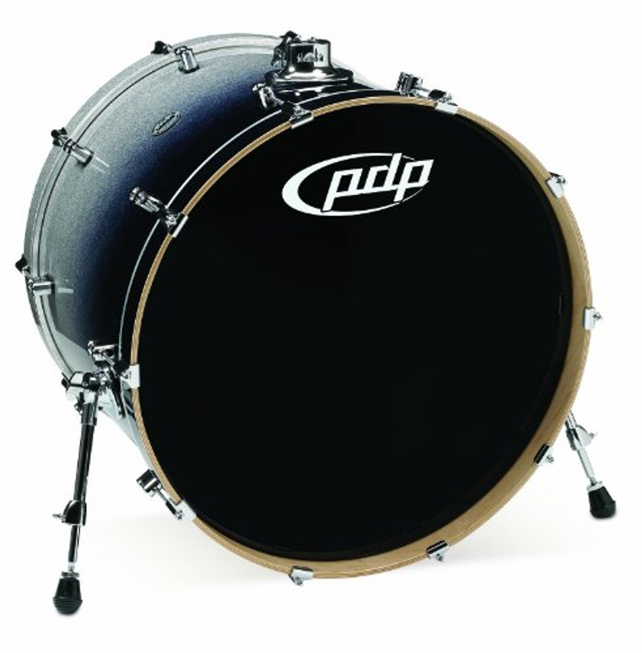 Drum Workshop Silver to Blk Fade - Chrm Hw 18x24