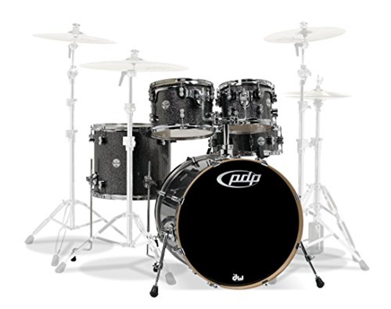 Drum Workshop Black Sparkle - Chrome Hw 5 Pcs