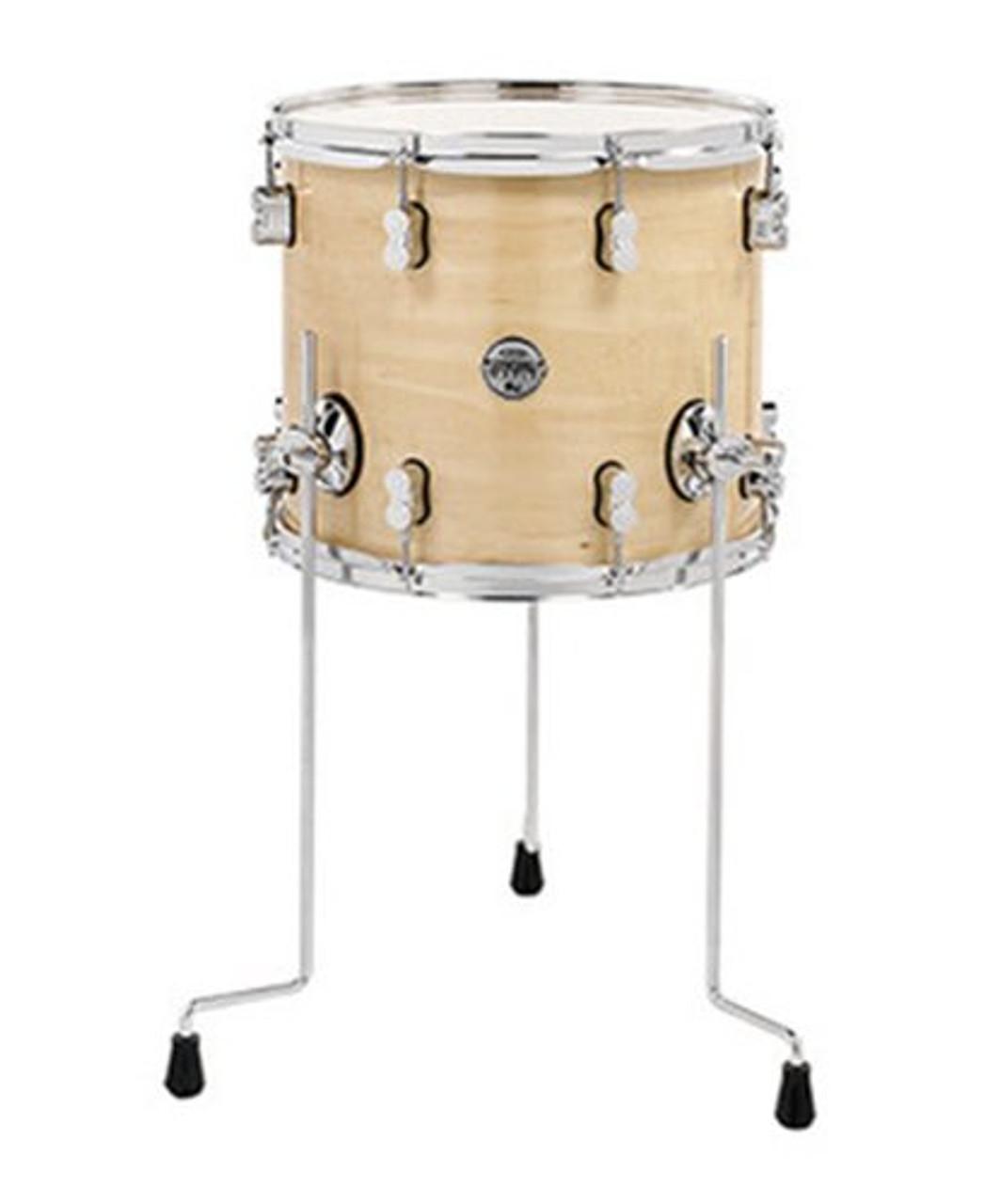 Drum Workshop Natural - Chrome Hw 12x14