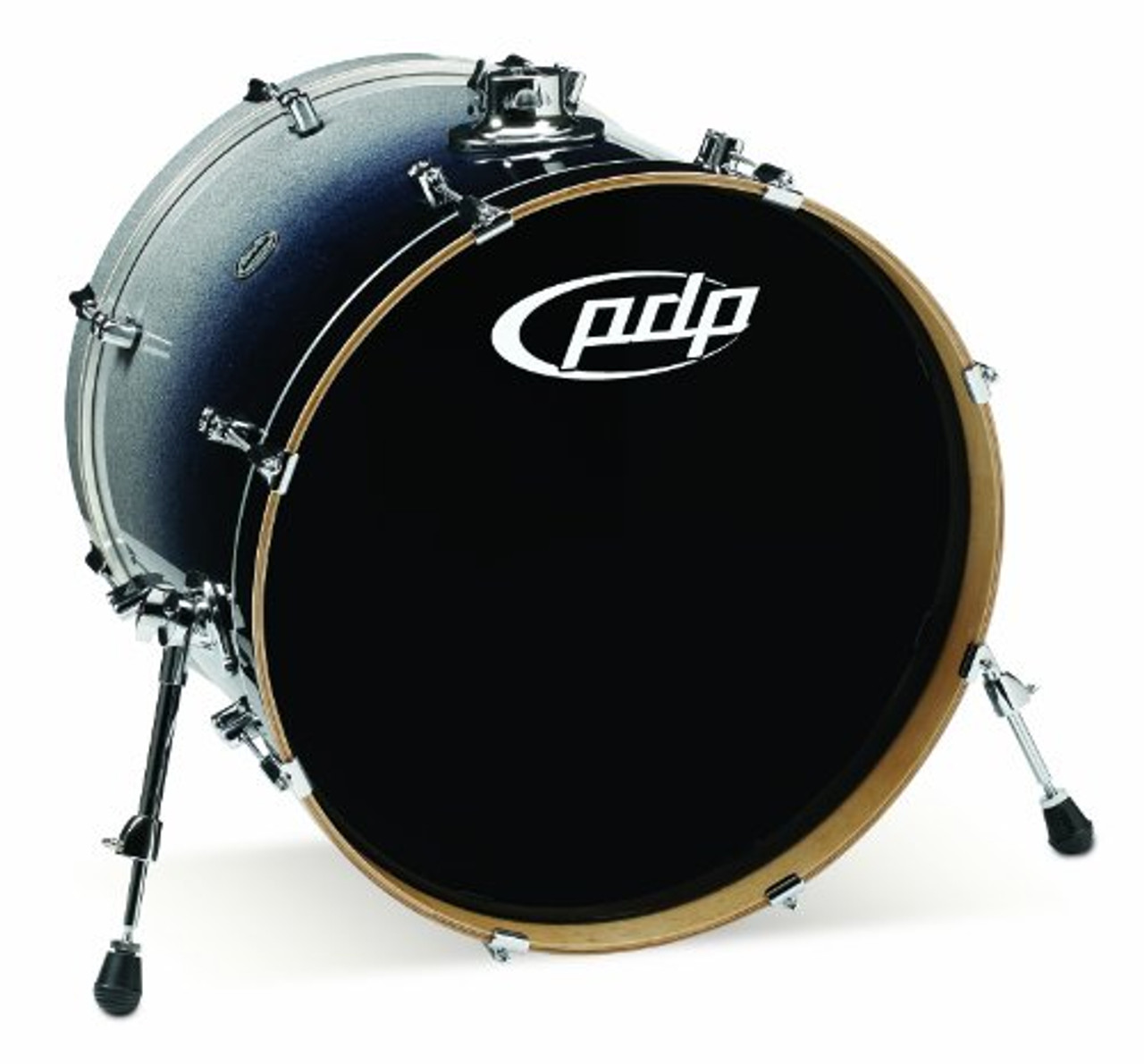 Drum Workshop Silver to Blk Fade - Chrm Hw 18x22