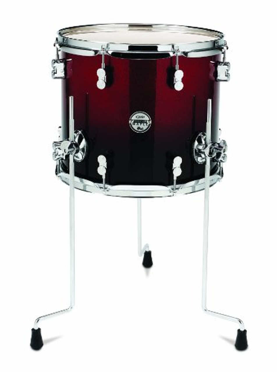 Drum Workshop Red to Blk Fade - Chrm Hw 12x14