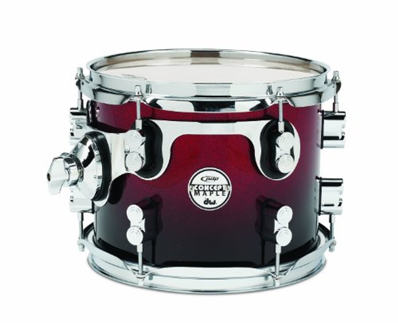 Drum Workshop Red to Blk Fade - Chrm Hw 8x10