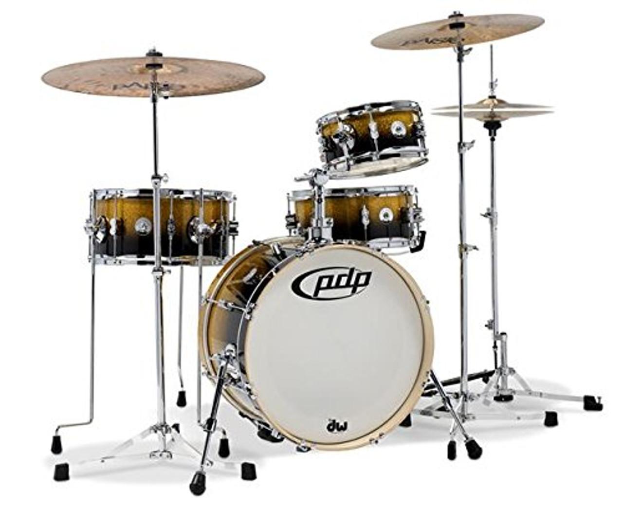 Drum Workshop Daru Jones 4pc, Bags & 6000 Hw, Gold-Blk