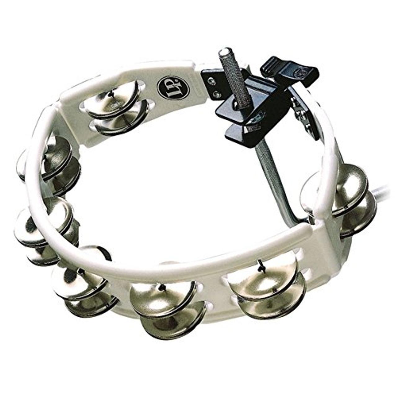 Drum Workshop Cyclops Mounted Tambourine White Steel