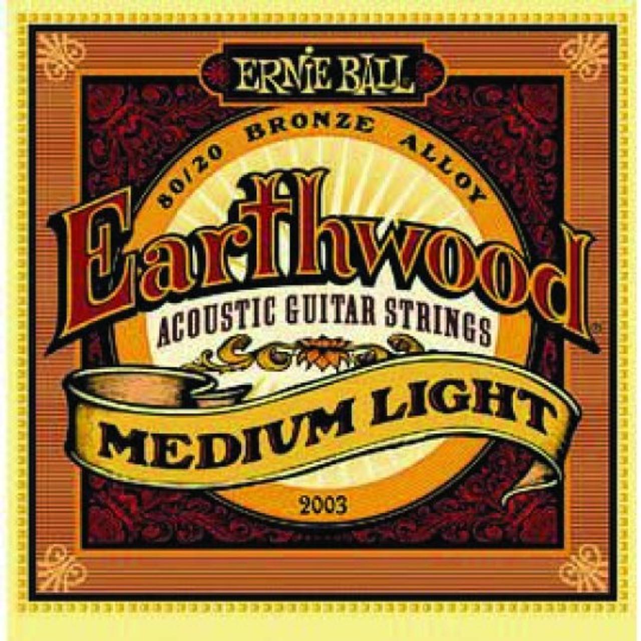 Ernie Ball Earthwood Guitar Strings Med Light 12-54