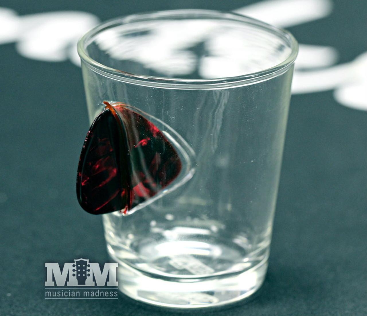Guitar Pick Shot Glass Red (Ships Same Day)