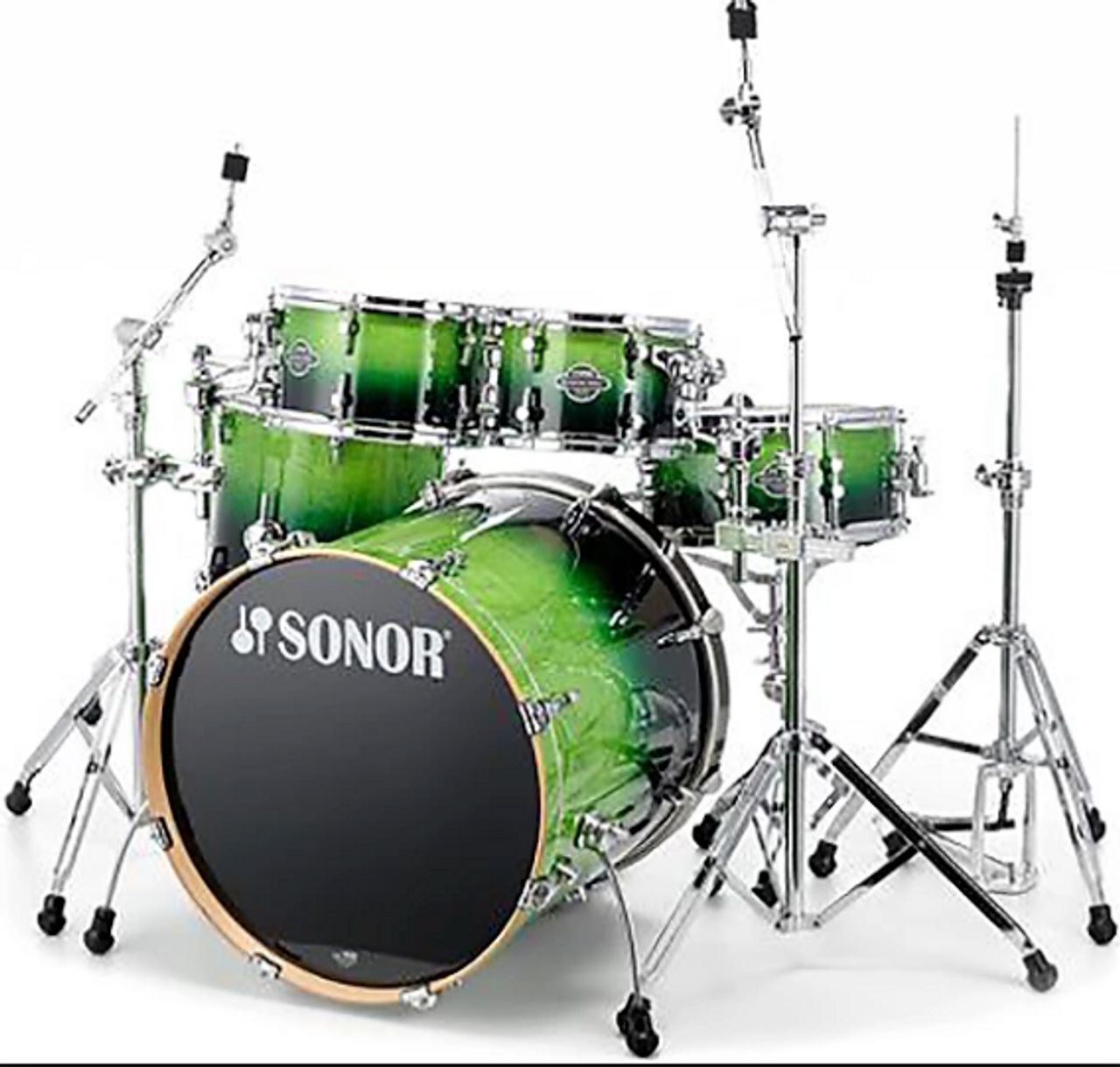 Sonor Select Force Green Fade- Maple Shell Pack- Studio (Blow Out)