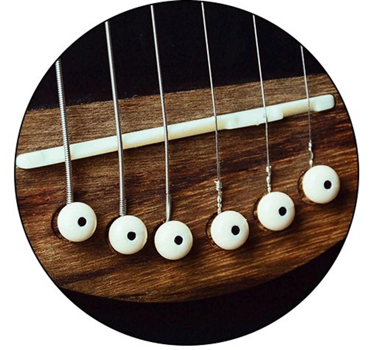 Acoustic Guitar Plastic Bridge Pins Set of 6