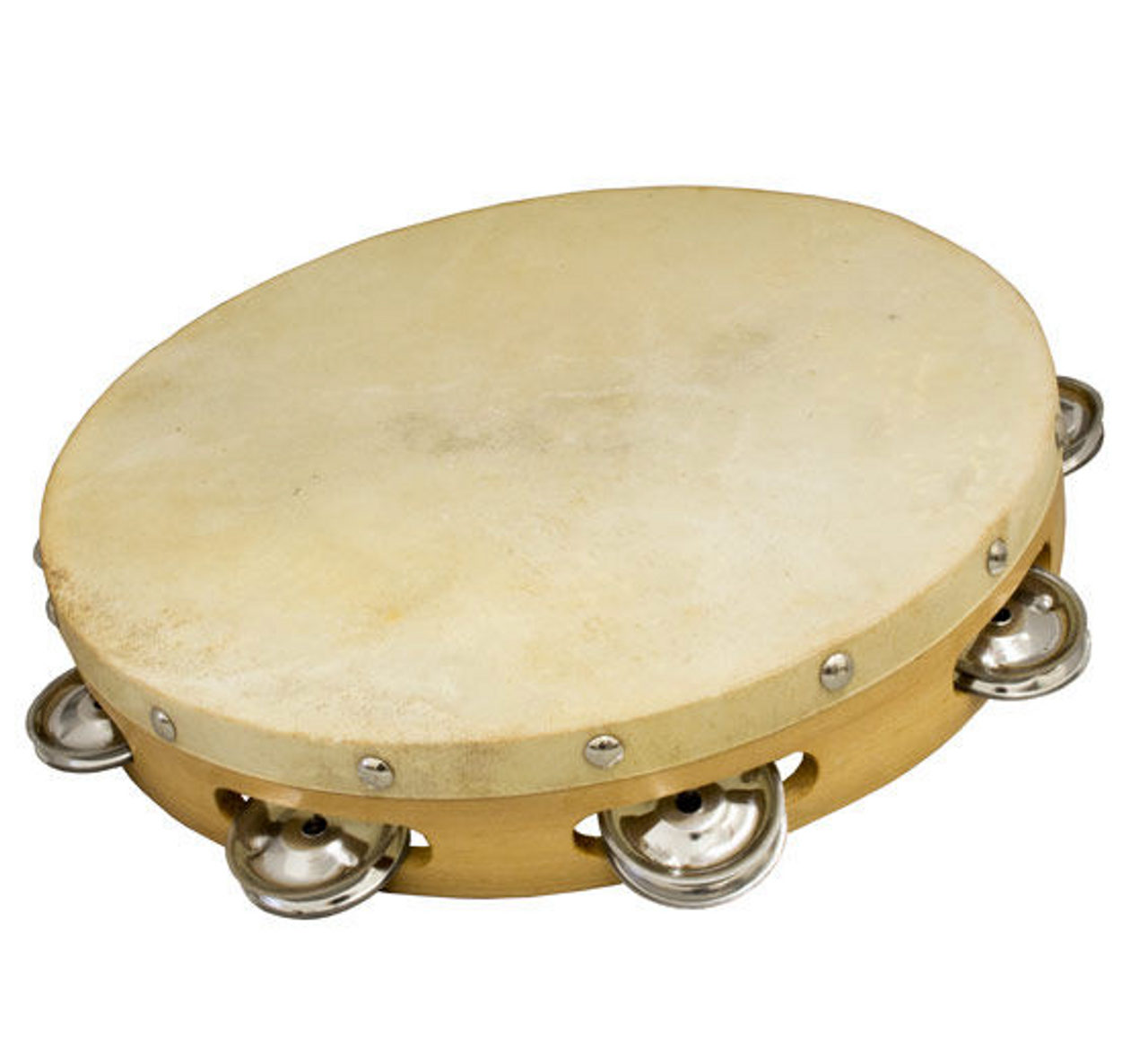 12 inch Tambourine Single Row Jingles