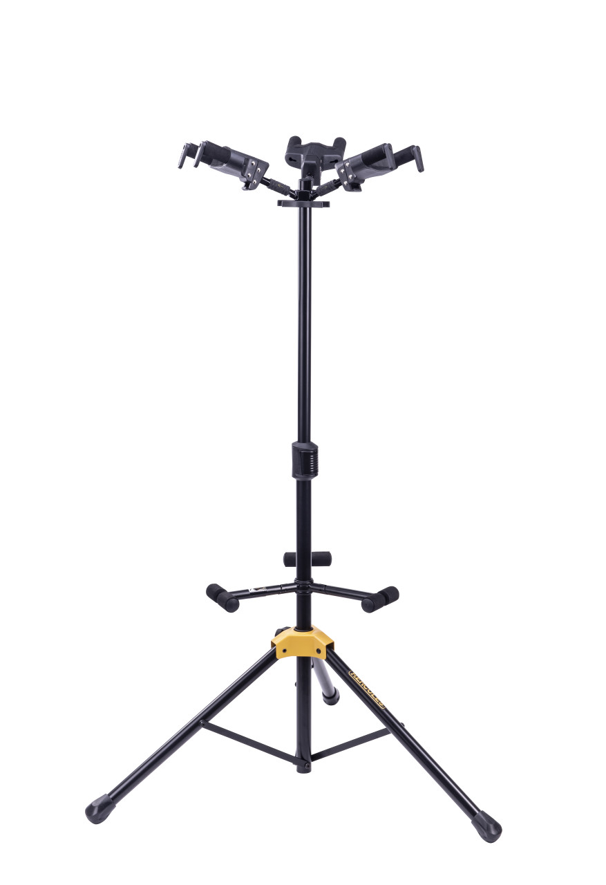 Hercules PLUS Series Universal AutoGrip Tri Guitar Stand with Foldable Backrest
