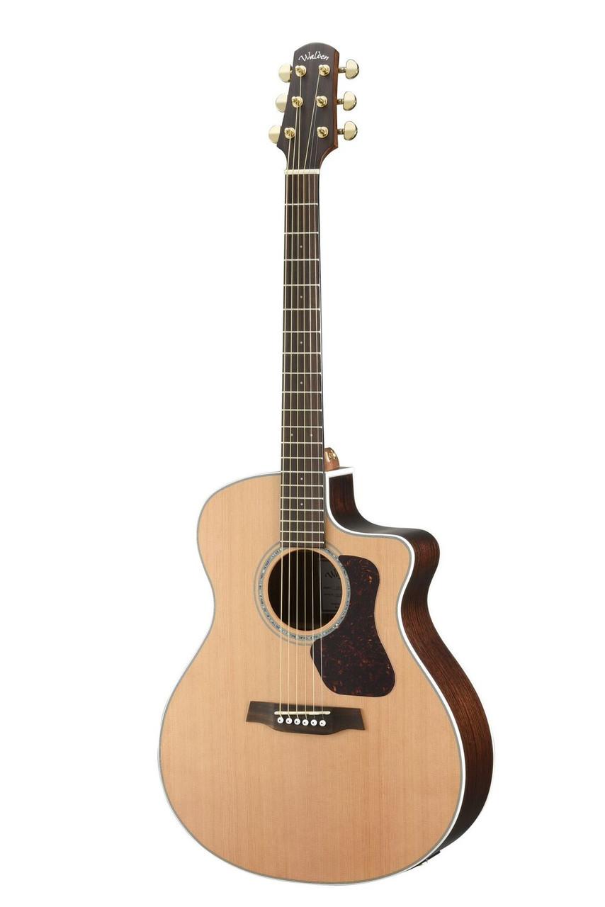 WALDEN G630CE Natura Solid Cedar Top/Rosewood Grand Auditorium Acoustic Cutaway-Electric - Satin Natural