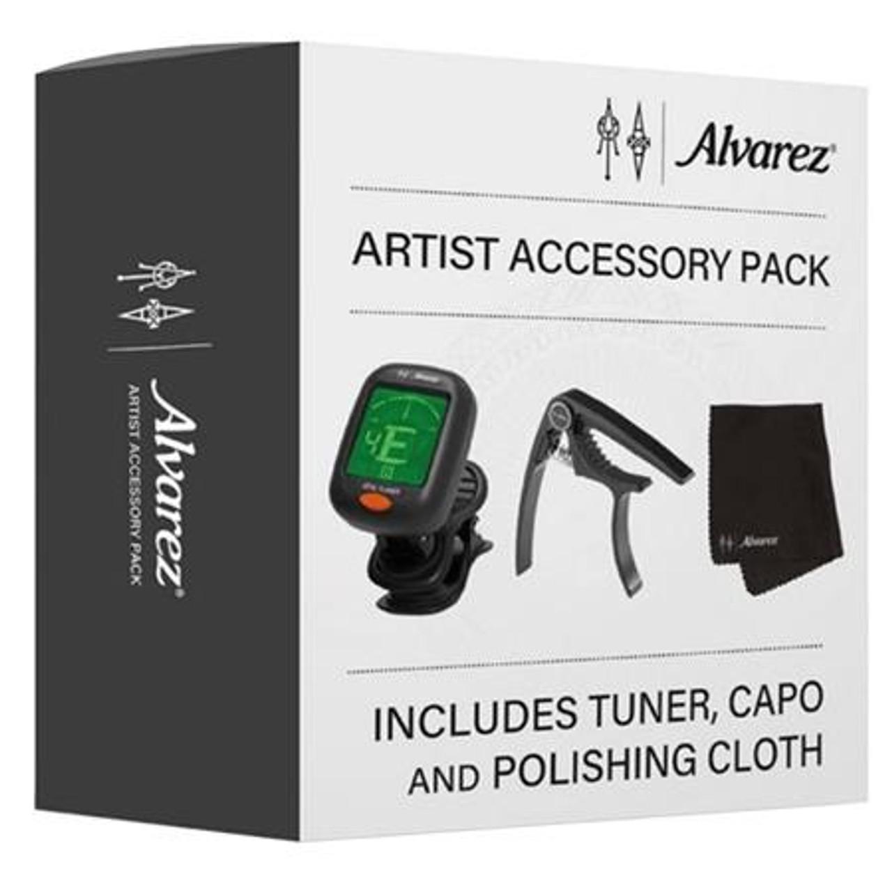 Alvarez Artist Accessory Pack, Tuner, Capo, Polishing Cloth