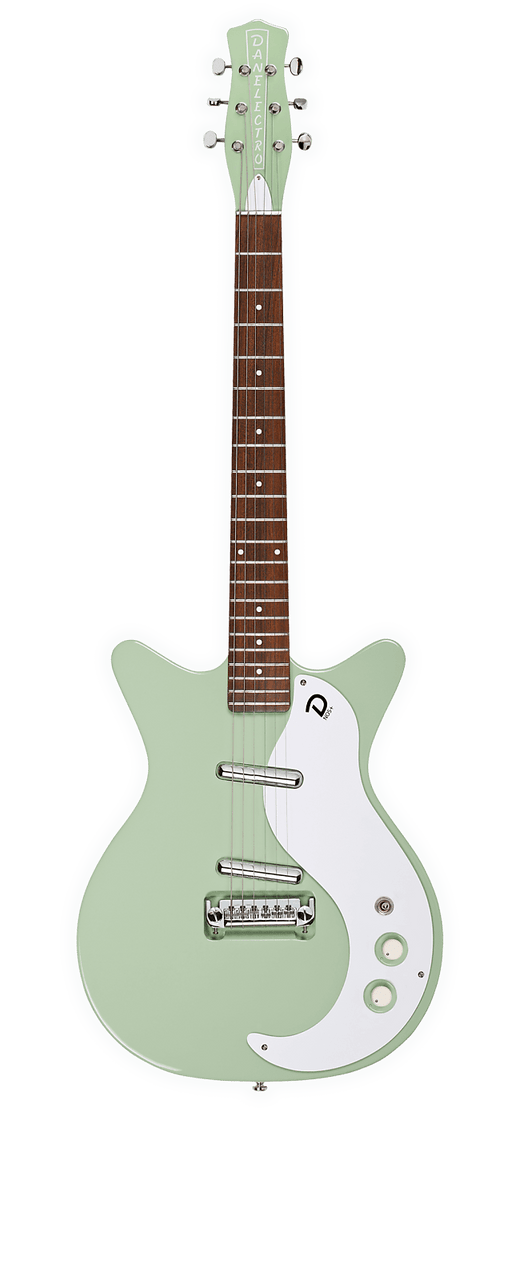Danelectro D59M-PLUS-GRN '59 NOS+ Shorthorn Shape 6-String Electric Guitar w/Adjustable Bridge