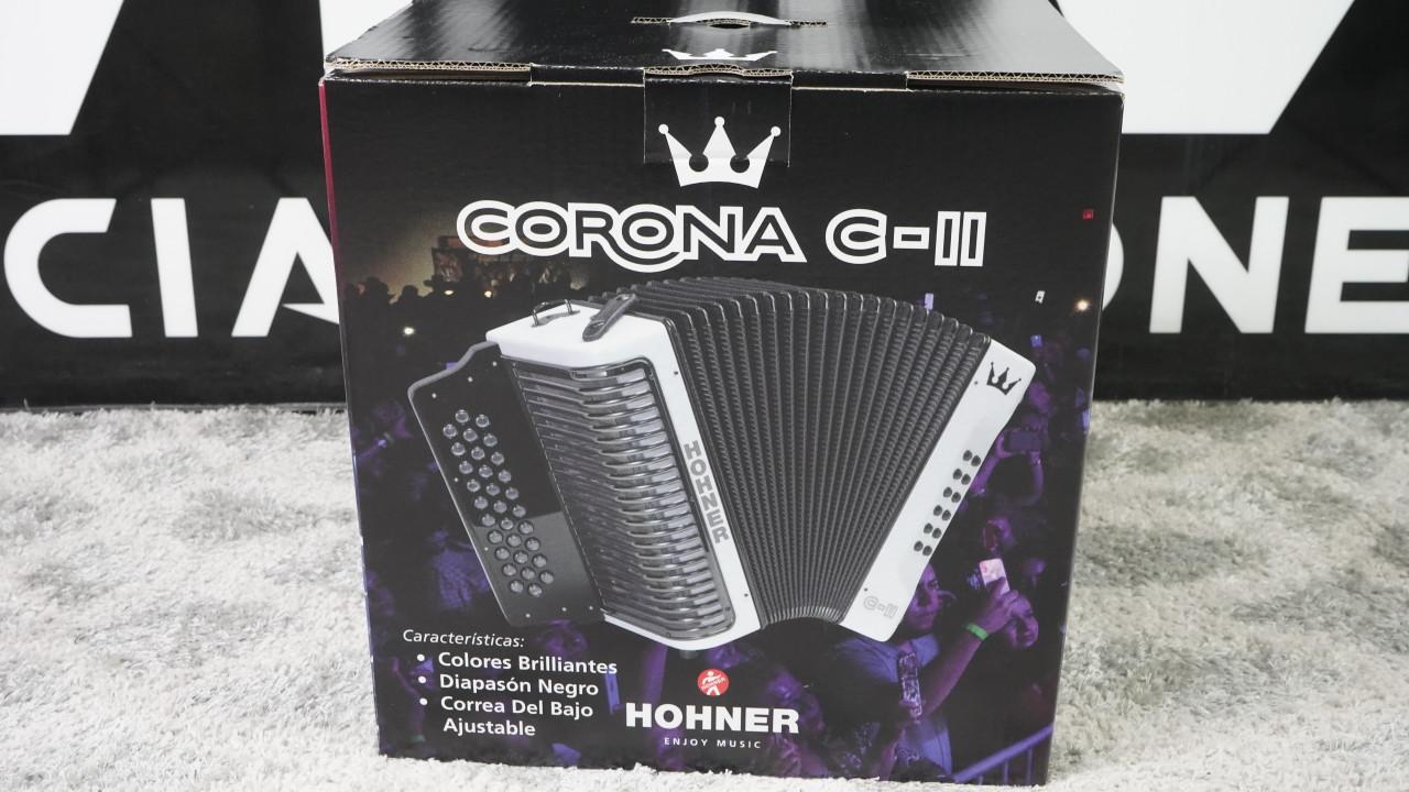 Hohner Corona C-II Accordion White Rainbow Made in Germany (FA Key)