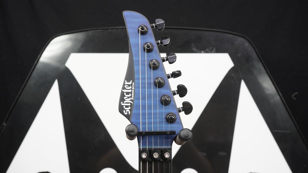 Schecter Banshee GT FR Electric Guitar, Ebony Fretboard, Satin Trans Blue B Stock