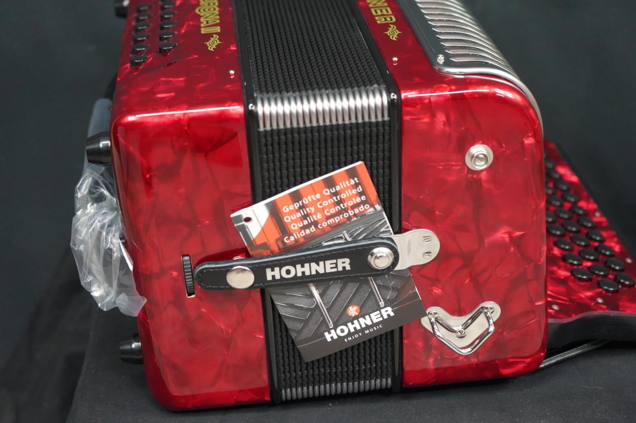 Hohner Corona II XTREME FBbEb, pearl red