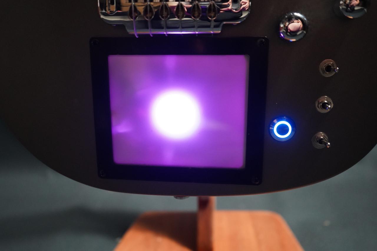 Cort Custom MBM-1 Matthew Bellamy Signature Silver Satin w/XY Pad and Sustainiac