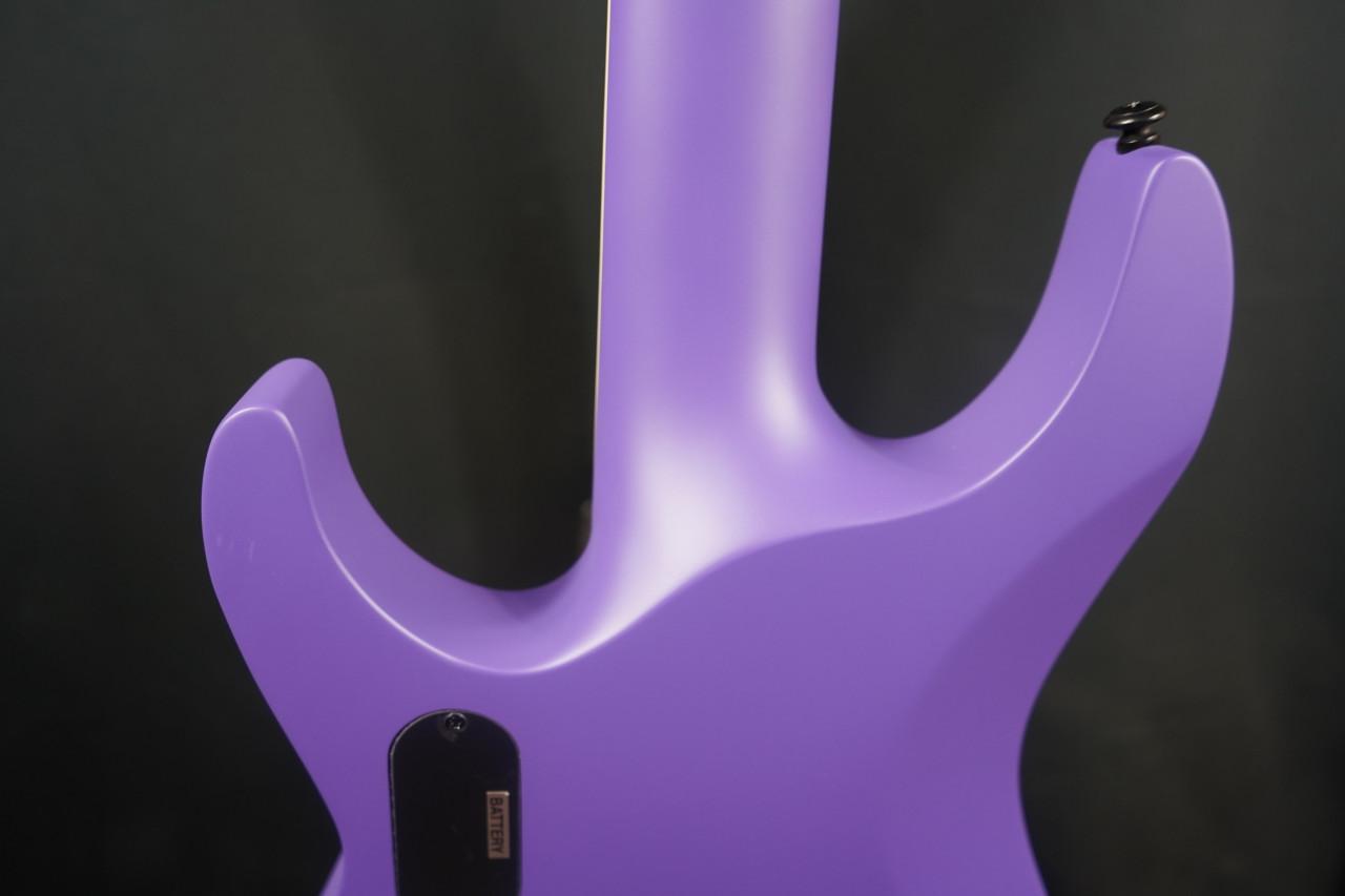 ESP LTD SC-607B Stephen Carpenter Baritone Electric Guitar, Purple Satin w/ Case