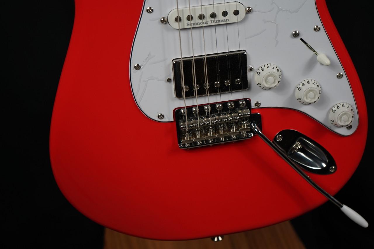 Eklien/Flaxwood Fiesta Klein Red Strat Guitar