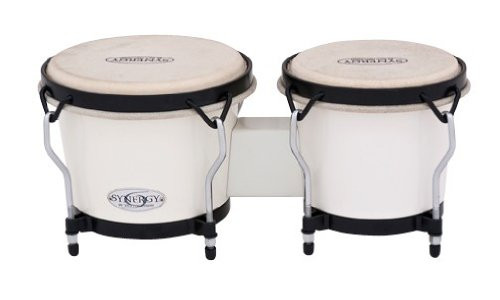 Toca a 2100SW Synergy Synthetic Bongos - White Finish