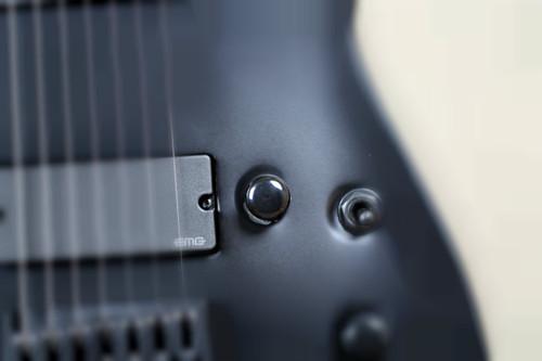 ESP E-II Horizon NT-7B Hipshot 7 String Baritone Electric Guitar Black Satin
