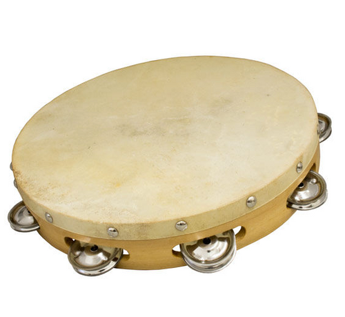 12 inch Tambourine Single Row Jingles