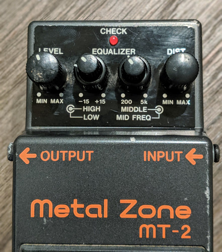 Boss Metal Zone (Used Free 2-Day Shipping)