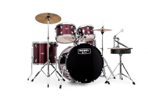 Mapex Rebel SRO Complete 5 Piece Drum Set Dark Red