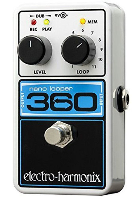 Electro Harmonix 360 NANO LOOPER Compact Looper, 9.6DC-200 PSU Included