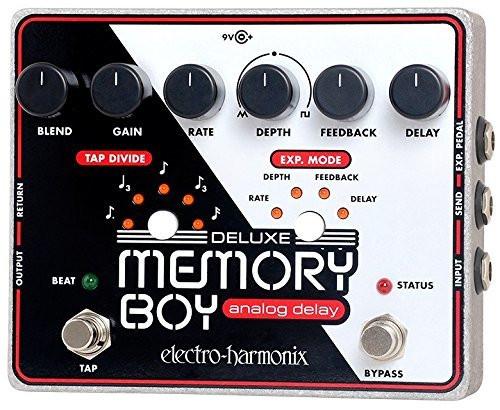 Electro Harmonix DELUXE MEMORY BOY Tap Temp Analog Delay, 9.6DC-200 PSU included