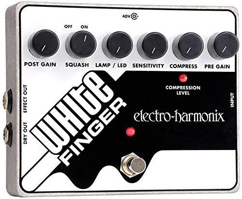 Electro Harmonix WHITE FINGER Analog Optical Compressor, 40DC-100 PSU included