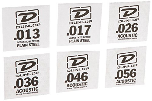 Dunlop DAP1356 Acoustic Phosphor Bronze Guitar Strings, Medium, .013-.056, 6 Strings/Set