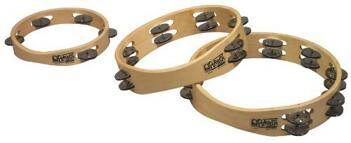 Toca a T1010 Player's Wood Tambourine, 10-Inch Double Row