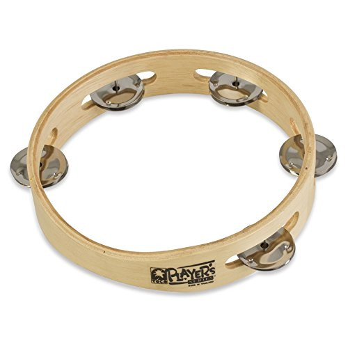 Toca a T1075 Player's Wood Tambourine, 7-1/2-Inch Single Row