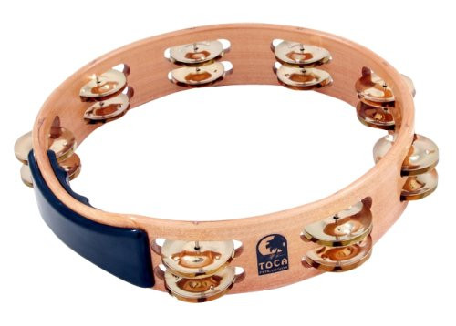 Toca a Acacia Tambourine With Brass Jingles 10 Inch