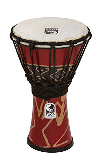 Toca a SFDJ-7RP Freestyle Rope Tuned 7-Inch Djembe - Bali Red Finish