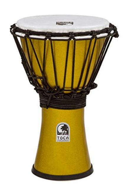 Toca a TFCDJ-7MY Freestyle Colorsound 7-Inch Djembe - Metallic Yellow