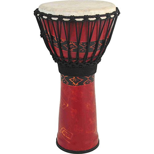 Toca a SFDJ-9RP Freestyle Rope Tuned 9-Inch Djembe - Bali Red Finish