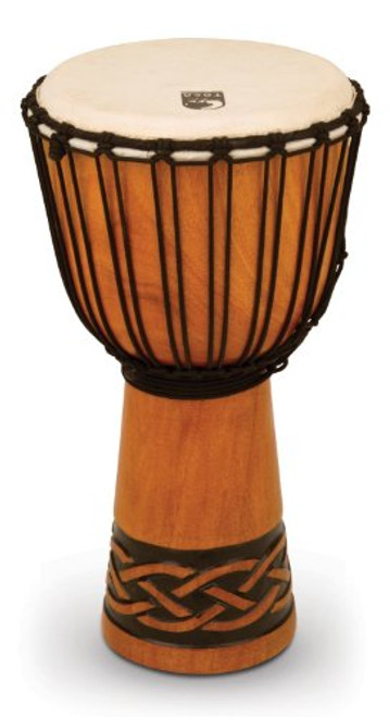 Toca a TODJ-10CK Origins Series Rope Tuned Wood 10-Inch Djembe - Celtic Knot Finish