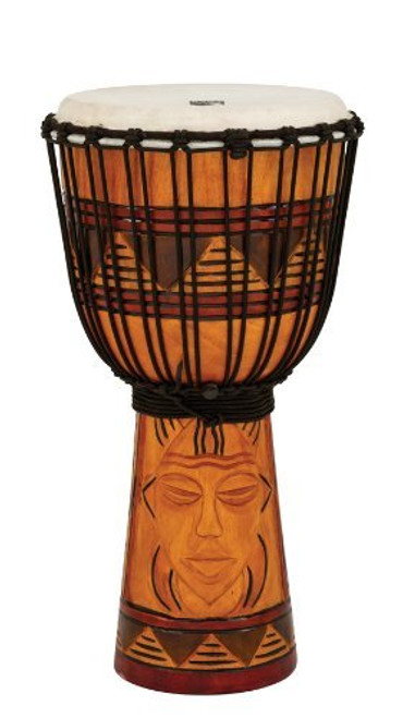 Toca a TODJ-10TM Origins Series Rope Tuned Wood 10-Inch Djembe - Tribal Mask
