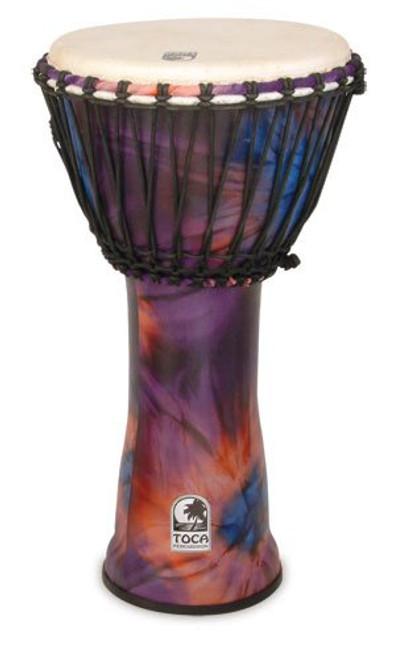 Toca a SFDJ-12WP Freestyle Rope Tuned 12-Inch Djembe - Woodsk Purple Finish