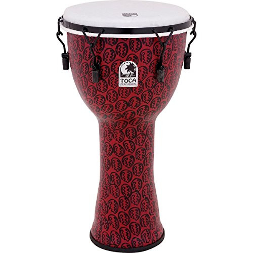 Toca a TF2DM-12RM Freestyle II Mechanically Tuned 12-Inch Djembe - Red Mask Finish