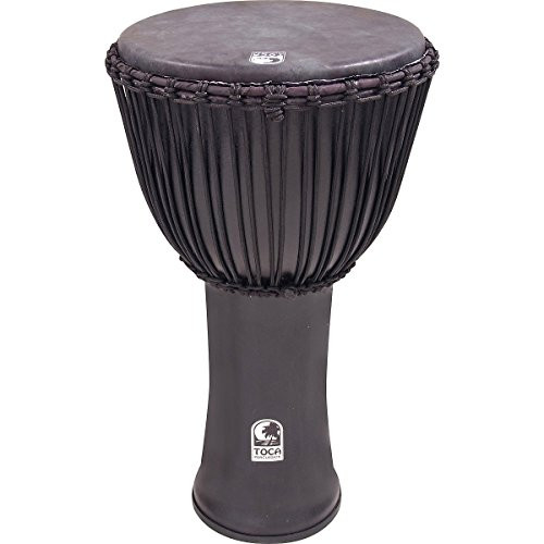 Toca a Freestyle Canon Djembe 14 with Bag, Black Mamba