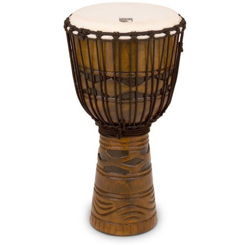 Toca a TODJ-12AM Origins Series Rope Tuned Wood 12-Inch Djembe - African Mask