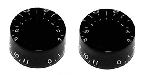 "BLACK SPEED KNOBS ""0-11"" FOR GIBSON LES PAUL / EPIPHONE GUITAR (2-PACK)"