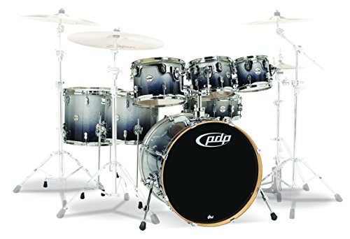 Drum Workshop Silver to Blk Fade - Chrm Hw 7 Pcs
