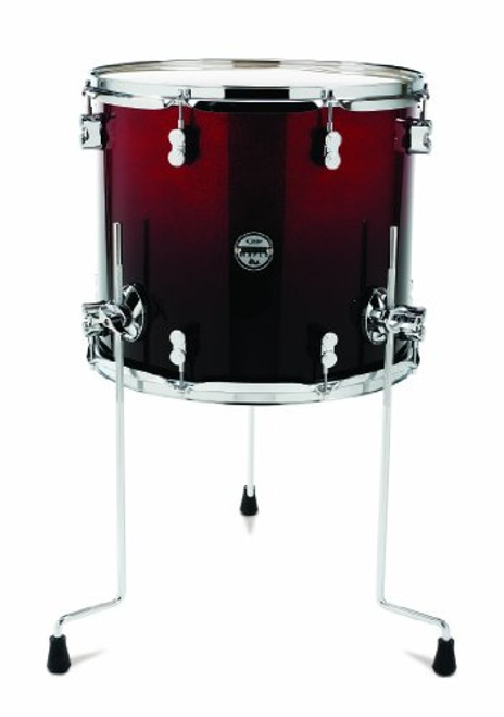 Drum Workshop Red to Blk Fade - Chrm Hw 14x16