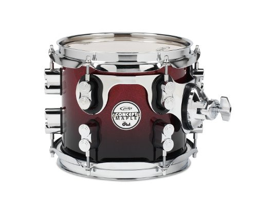 Drum Workshop Red to Blk Fade - Chrm Hw 7x8